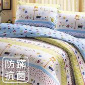 【鴻宇HONGYEW】美國棉/防蹣抗菌寢具/台灣製/雙人四件式兩用被床包組-180706