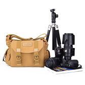 單反相機包 佳能60d 700d 單反包休閒帆布戶外 單肩攝影包