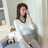 【春季上新】秋冬新款正韓短款毛衣打底衫女長袖套頭修身顯瘦針織打底衫外套