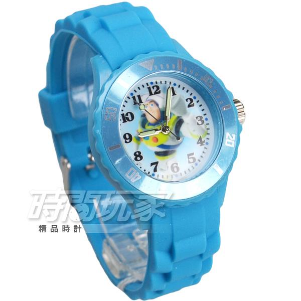 Disney 迪士尼 玩具總動員 巴斯光年 兒童手錶 橡膠 水藍 DU-3042巴斯