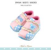 Swan天鵝童鞋-Love圓點蕾絲機能學步鞋1538-藍