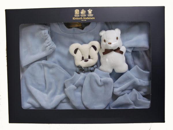 【金安德森】新生兒五件組禮盒-秋冬可愛領結熊
