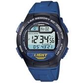 【CASIO】 電子世界電子錶-藍(W-734-2A)