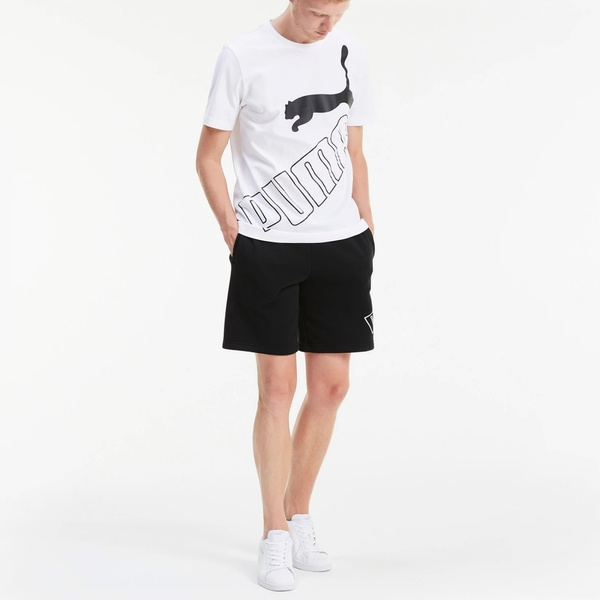PUMA Big Logo Short Sleeve 男裝 短袖 純棉 休閒 大跳豹 白【運動世界】58350202