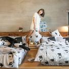 床包被套組 / 單人【經典黑白款-馬來貘的日常】含一件枕套  100%精梳棉  戀家小舖台灣製AAL112