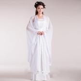 古裝唐裝漢服白色小龍女仙女服清新淡雅寫真武俠女裝戲服畢業服裝