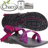 Chaco ZLW02_HD36野果豔紅 女越野紓壓涼鞋-Z/Cloud2夾腳款 綁帶涼鞋