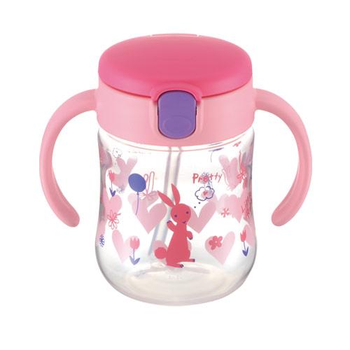 日本 Richell TLI水杯 - 薇拉兔吸管水杯200ml【佳兒園婦幼館】