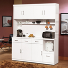祖迪白色5.3尺碗碟櫃/餐櫃整組(18J...