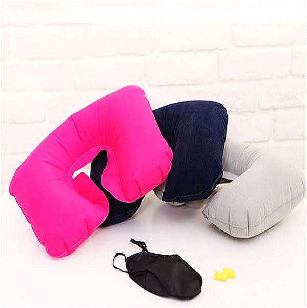 《熊熊先生》實用 ! ! ! 讓您擁有舒適旅行~充氣旅行枕 + 眼罩 + 耳塞 套組