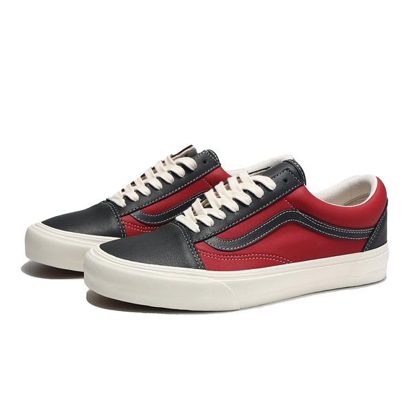 VANS 休閒鞋 OLD SKOOL VIT LX 暗紅黑 滑板鞋 男 (布魯克林) VN0A4BVF22C