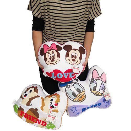 《丸真》迪士尼拼接布面附袋造型靠墊(唐老鴨&黛西)_RS59487