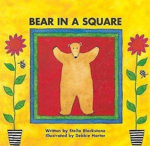 【麥克書店】BEAR IN A SQUARE  /英文繪本附CD《生活認知》