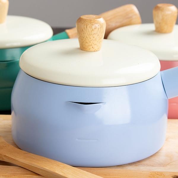 樂嫚妮 牛奶鍋  湯鍋 MILK POT 木柄牛奶鍋 SGS認證 台灣製造