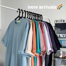 素色純棉t恤女短袖ins潮2021年新款港風百搭半袖上衣寬鬆韓版夏季 童趣屋 免運
