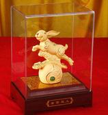 絨沙金工藝品擺件*中秋禮品 青雲直上金兔 招財進寶兔