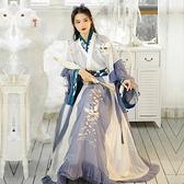 漢服女中國風晉制齊腰交領襦裙非古裝女裝 【快速出貨】