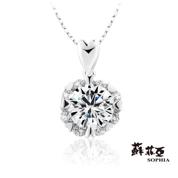 蘇菲亞SOPHIA - 費洛拉S 1.00克拉FVVS1 3EX鑽石項鍊