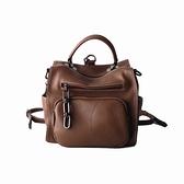 後背包-真皮-簡約多用途純色方型女側背包2色73yi5[巴黎精品]