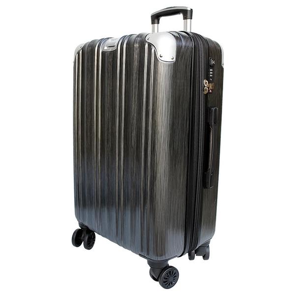 【YC Eason】維也納29吋海關鎖款PC硬殼行李箱(黑灰)