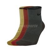 Nike 襪子 Everyday Max Cushioned 黑黃紅 三雙入 男女款【ACS】 SX5549-988