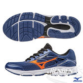 MIZUNO美津濃 INSPIRE12 Jr. 支撐型童鞋(深藍*橘)