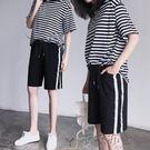 運動短褲學生百搭寬鬆休閒高腰開叉中褲