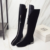 真皮長靴-歐美騎士風時尚熱銷低跟女靴子73iv38【時尚巴黎】