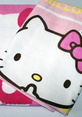 KITTY 毛巾浴巾組《大.粉紅.橫條紋》100%棉台灣製