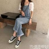 背帶褲 夏季流行網紅韓版寬鬆洋氣減齡薄款高腰顯瘦牛仔背帶長褲 嬡孕哺 新品