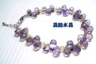 天然紫水晶手鍊 特級鑽石切割~超高淨度~光亮度超優~送禮物佳~附禮盒*免運費