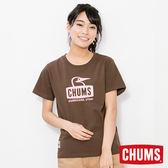 CHUMS 日本 女 Booby Face 短袖圓領T恤 深棕色 CH111243B020