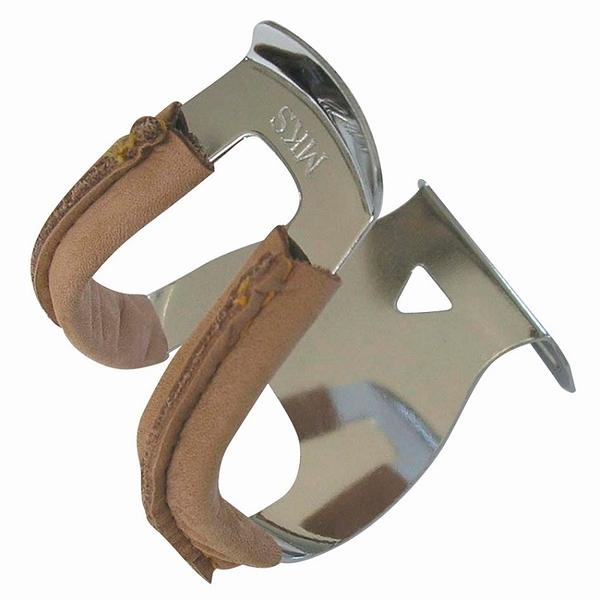 ::bonJOIE:: 日本製 MKS Half Deep Section Toe Clip with Leather (一對入) 皮革款 踏板定趾套 狗嘴套