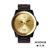 NIXON手錶 原廠總代理A346-010 Corporal SS 黑金色 潮流時尚鋼錶帶 男女適用 運動潛水 生日 情人節禮物