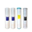 (共4支)CLEAN PURE 台灣製造 20英吋大胖5微米PP濾心2支 樹脂軟水濾心1支 壓縮活性碳濾心1支 全戶過濾