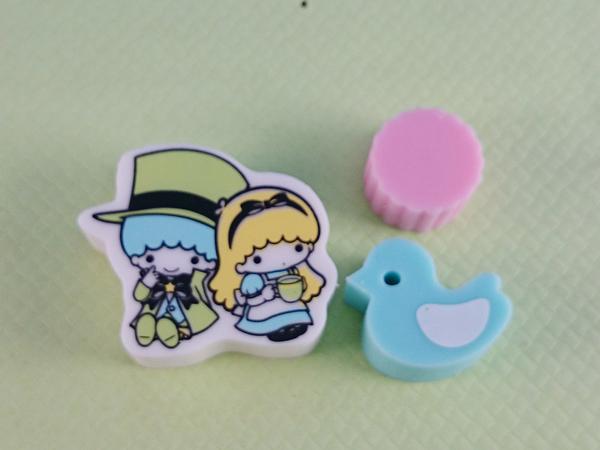 【震撼精品百貨】Little Twin Stars KiKi&LaLa 雙子星小天使~橡皮擦_3入