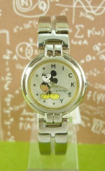 【震撼精品百貨】米奇/米妮_Micky Mouse~手錶-圓型錶面-插腰圖案-鍊錶帶【共1款】