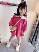 兒童衛衣公主裙童裝小女孩洋氣連衣裙春裝新款女童女寶寶裙子 「爆米花」