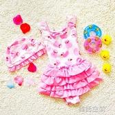 女童泳衣小童連身幼兒兒童泳衣嬰兒女孩小孩1-2-3-4歲女寶寶泳衣 韓語空間