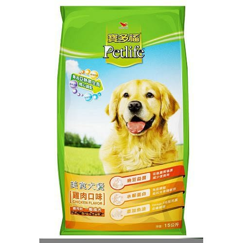 統一寶多福美食犬餐-雞肉15kg【愛買】