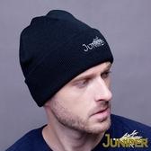 毛線針織帽子-男女雙層加厚保暖素色針織套頭毛線冬帽J5001 JUNIPER