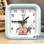 鬧鐘 卡通靜音學習小鬧鐘簡約ins臥室時鐘學生用創意抖音網紅床頭鐘表【快速出貨】
