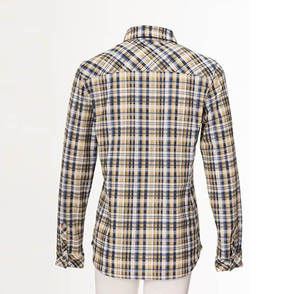 [Wildland] 荒野 (女) 彈性格紋內刷毛保暖襯衫 酒紅 (0A72201-07)