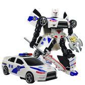 變形玩具金剛變身汽車機器人正版模型兒童玩具小男孩警車3-6-8歲9