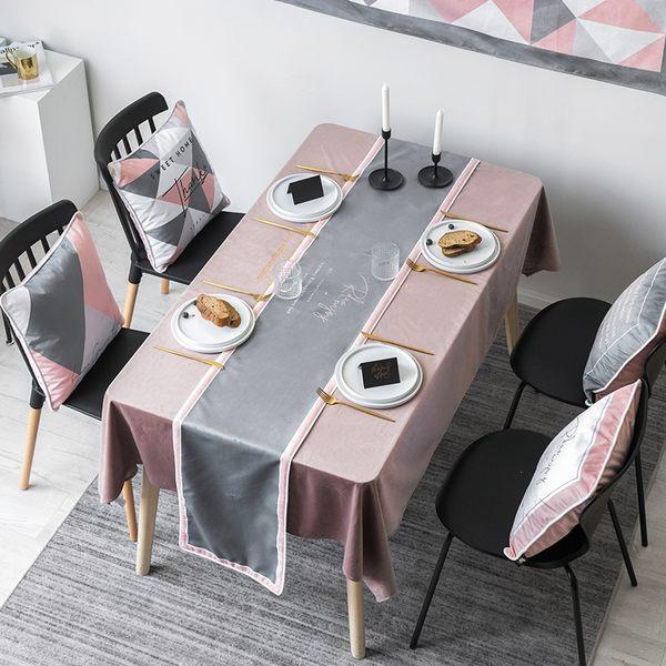 時尚可愛空間餐桌布 茶几布 隔熱墊 鍋墊 杯墊 餐桌巾桌旗 601 (30*160cm)