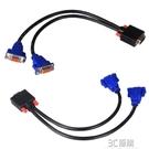 VGA分配器一分二高清視頻監控器電腦顯示器分屏器一進二出分頻器1分2線 3C優購