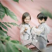 雨衣男女童寶寶韓版可愛連帽流蘇雨披兒童透明雨衣 綠光森林