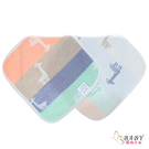 六層紗布巾 手帕小方巾 五入組 謙和長頸鹿 (嬰兒/幼兒/寶寶/新生兒/baby/兒童)