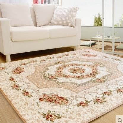 歐式簡約現代 臥室床邊滿鋪地毯 客廳茶几沙發大地毯【120cm×180cm】