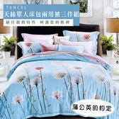 天絲/專櫃級100%.單人床包兩用被套組.蒲公英的約定/伊柔寢飾